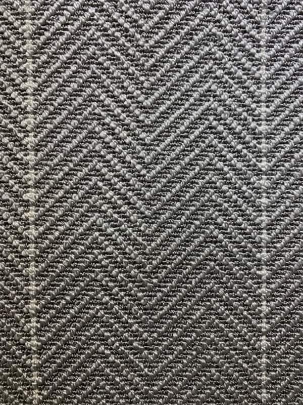 Classic Chevron Stripe Metallic Gray